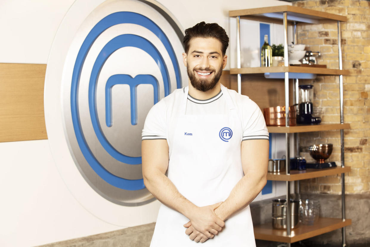 WARNING: Embargoed for publication until 00:00:01 on 22/04/2021 - Programme Name: Celebrity Masterchef S16 - TX: n/a - Episode: Celebrity Masterchef S16 - Contestant Generics (No. Contestant Generics) - Picture Shows: **STRICTLY EMBARGOED NOT FOR PUBLICATION BEFORE 00:01 ON THURSDAY 22ND APRIL 2021** Kem Cetinay - (C) Shine TV - Photographer: Production
