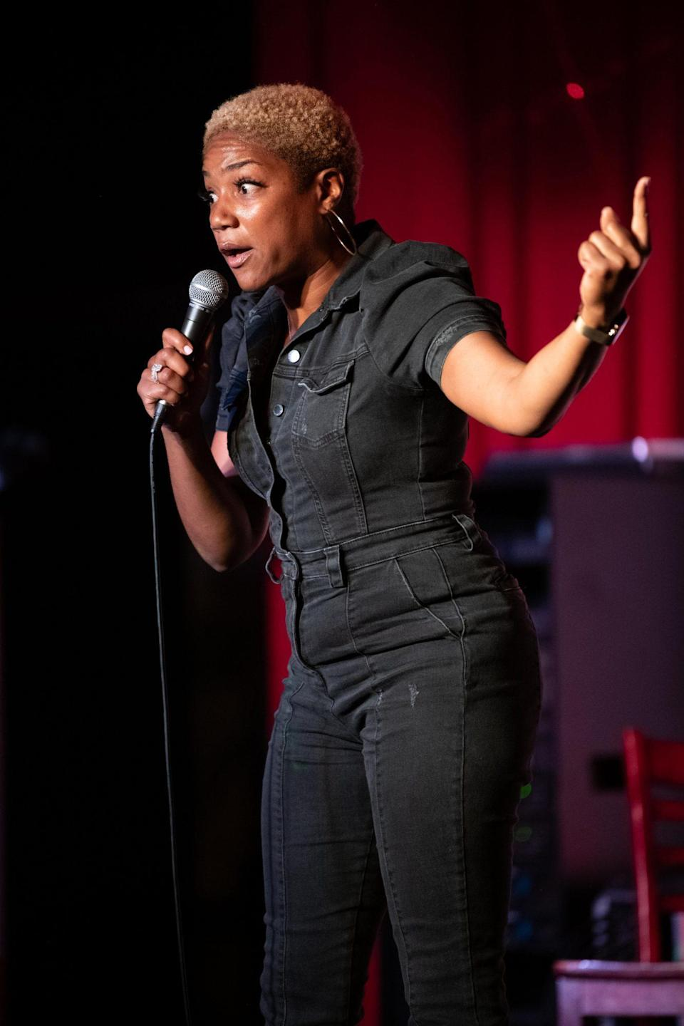 <p>Tiffany Haddish performs at The Savoy Entertainment Center in Inglewood, California on July 21.</p>