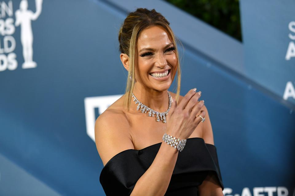 LOS ANGELES, CALIFORNIA - JANUARY 19: Jennifer Lopez attends the 26th Annual Screen Actors Guild Awards at The Shrine Auditorium on January 19, 2020 in Los Angeles, California. 721384 (Photo by Mike Coppola/Getty Images for Turner)