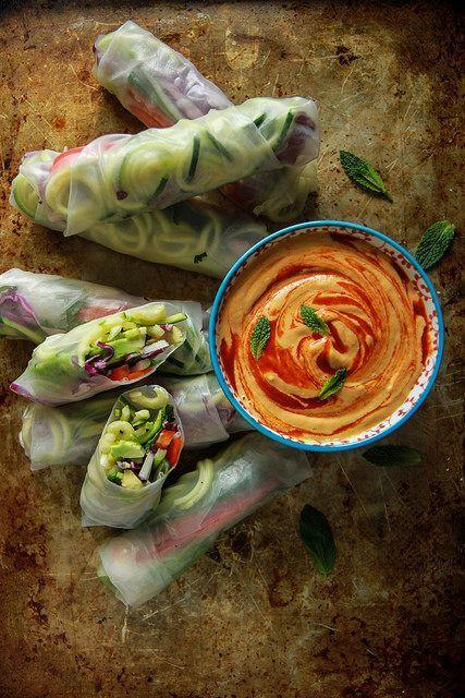 """<p>For when you gotta get your zoodles to go.</p><p><a href=""""http://heatherchristo.com/2016/02/28/vegan-zoodle-fresh-rolls-with-mango-tahini-sauce/"""" rel=""""nofollow noopener"""" target=""""_blank"""" data-ylk=""""slk:Get the recipe from Heather Christo »"""" class=""""link rapid-noclick-resp""""><em>Get the recipe from Heather Christo »</em></a><br></p>"""
