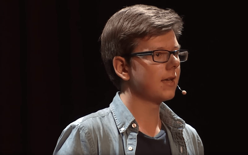 Teenage bitcoin millionaire Erik Finman has another proclamation for the world's biggest cryptocurrency. | Source: YouTube/TED