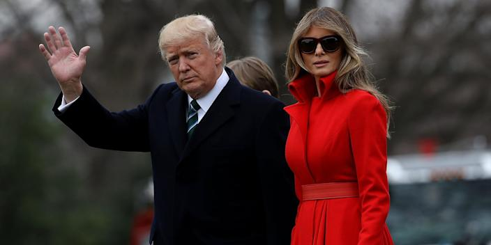 Melania Trump didn't know whether she'd be attending Biden's inauguration until the president tweeted that he'd skip it