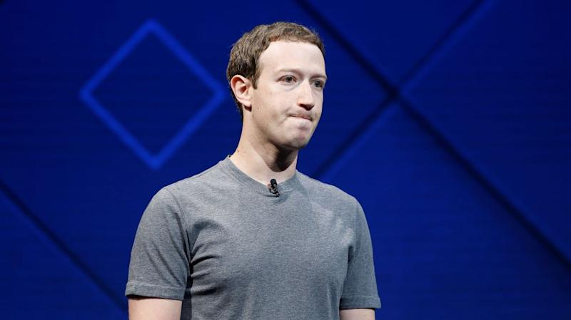Mark Zuckerberg at Facebook's annual developers conference in 2017.