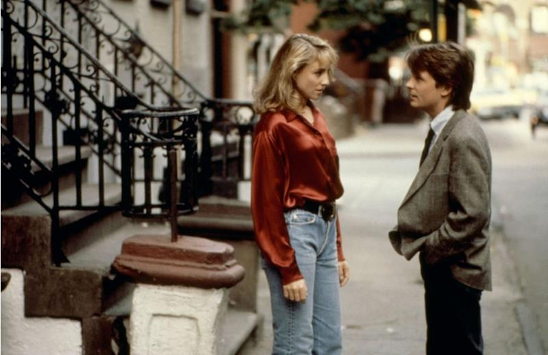 Tracy Pollan and Michael J. Fox in 1988