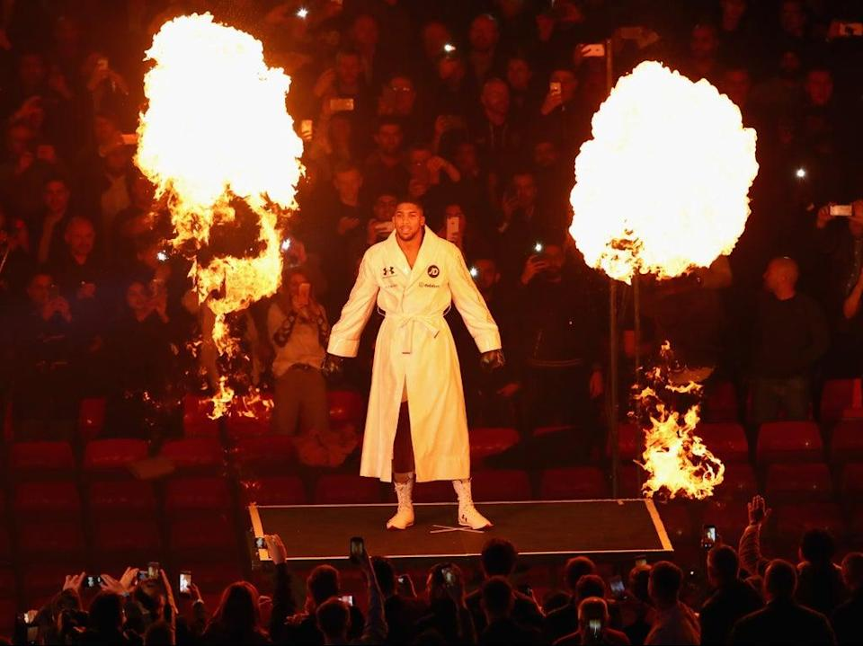 Anthony Joshua returns to action this weekend  (Getty)