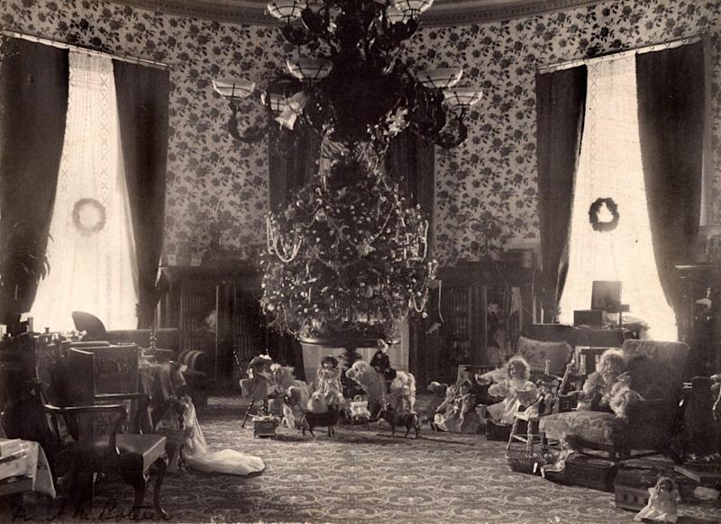 The Cleveland Family tree in the second floor Oval Room of the White House.