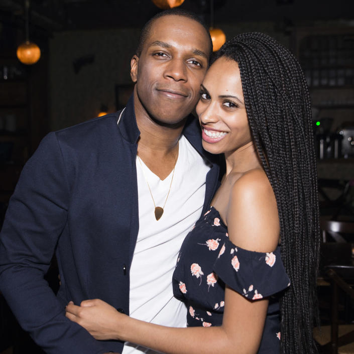 Leslie Odom Jr. and Nicolette Robinson (Jenny Anderson / WireImage)