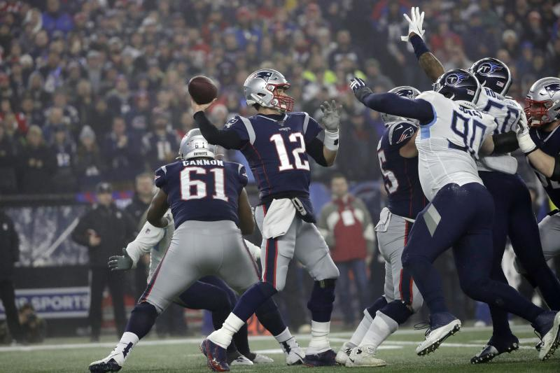 New England Patriots quarterback Tom Brady is out of the playoffs before the divisional round for the first time in 10 years. (AP Photo/Elise Amendola)
