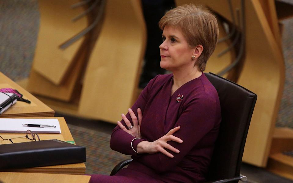 Nicola Sturgeon confirmed people across central Scotland will be told to remain in their local council areas - Getty Images Europe