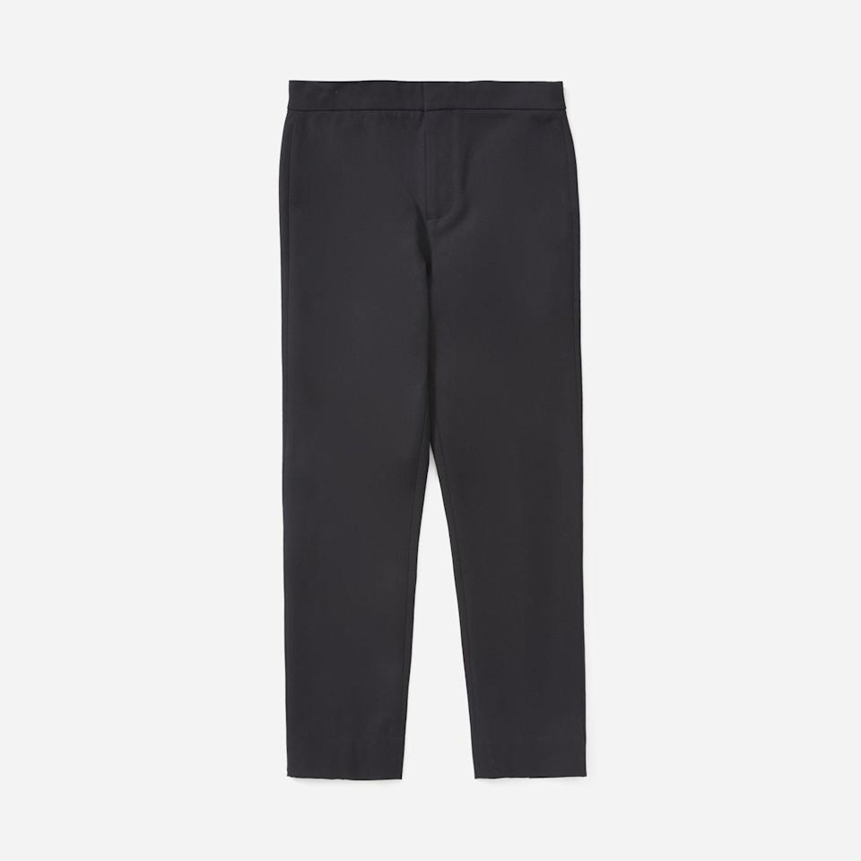 """<p><strong>Everlane</strong></p><p>everlane.com</p><p><a href=""""https://go.redirectingat.com?id=74968X1596630&url=https%3A%2F%2Fwww.everlane.com%2Fproducts%2Fwomens-fixed-waist-work-pant-black&sref=https%3A%2F%2Fwww.seventeen.com%2Ffashion%2Fg37090791%2Feverlane-summer-sale-best-items%2F"""" rel=""""nofollow noopener"""" target=""""_blank"""" data-ylk=""""slk:Shop Now"""" class=""""link rapid-noclick-resp"""">Shop Now</a></p><p><strong><del>$58</del> $29</strong></p><p>Until the debate over leggings as pants comes to a definitive end, a stretch-cotton pant is comfortable middle ground. </p>"""