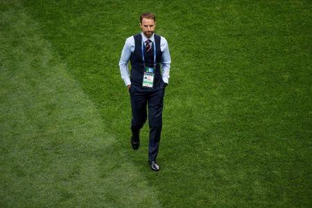 Soccer Football - World Cup - Semi Final - Croatia v England - Luzhniki Stadium, Moscow, Russia - July 11, 2018 England manager Gareth Southgate before the match REUTERS/Christian Hartmann