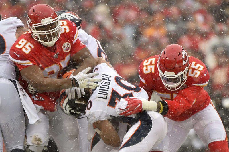 Chiefs' Jones inactive for playoff game; Texans' Fuller OK