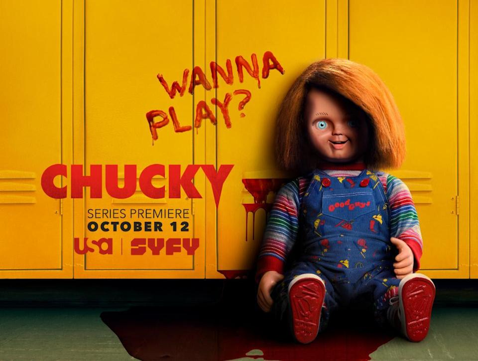 The evil Good Guy doll from the TV series Chucky in a promo for the show