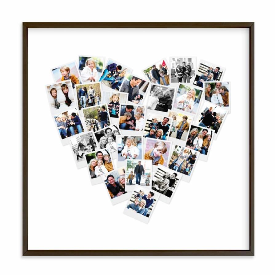 """Customize this photo collage for a wall accent featuring you and your giftee's most treasured memories together. $29, Minted. <a href=""""https://www.minted.com/product/photo-art/MIN-ZRO-GCP/heart-snapshot-mix-photo-art"""" rel=""""nofollow noopener"""" target=""""_blank"""" data-ylk=""""slk:Get it now!"""" class=""""link rapid-noclick-resp"""">Get it now!</a>"""