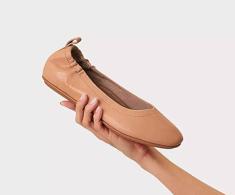 Allegro Soft Leather Ballet Flats in Blush. Image via Fitflop.