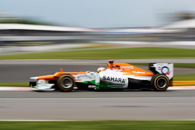 MONTREAL, CANADA - JUNE 08: Paul di Resta of Great Britain and Force India drives during practice for the Canadian Formula One Grand Prix at the Circuit Gilles Villeneuve on June 8, 2012 in Montreal, Canada. (Photo by Mark Thompson/Getty Images)