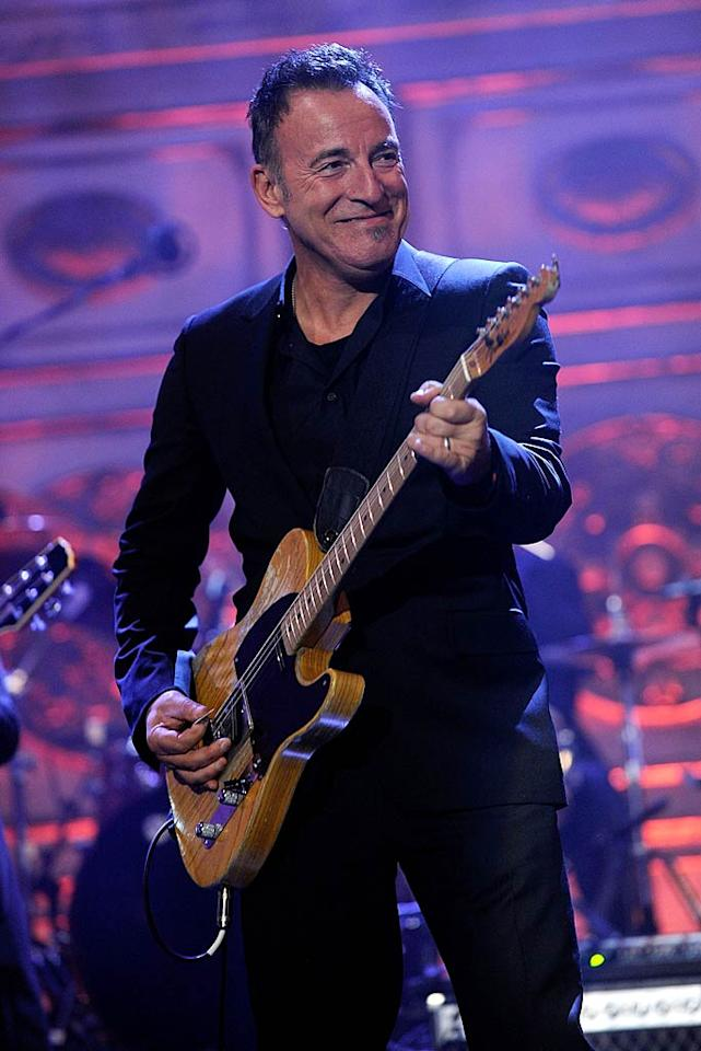 "Bruce Springsteen -- who's been in the Hall of Fame since 1999 -- showed 'em who was boss with a live performance. Dimitrios Kambouris/<a href=""http://www.wireimage.com"" target=""new"">WireImage.com</a> - March 14, 2011"