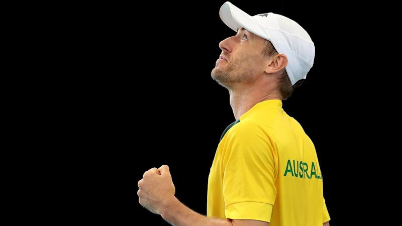 John Millman has led Australia to a 3-1 Davis Cup qualifying win over Brazil in Adelaide