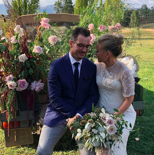 Guests were given a jar of honey from the couple's own farm. Photo: Instagram/Talitha Cummins