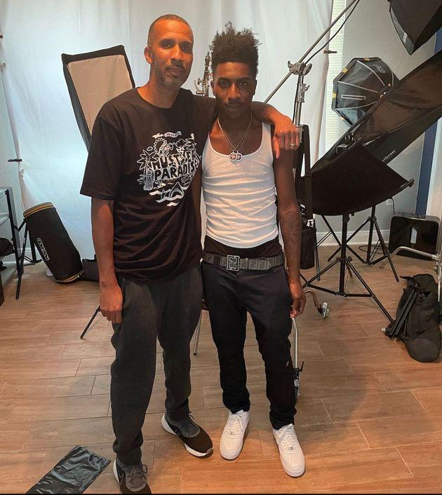 """Mac Phipps with his son, McKinley """"Taquan"""" Green, who raps under the name Bandana Kin. Green grew up in Baton Rouge, where Phipps was living when he was arrested."""