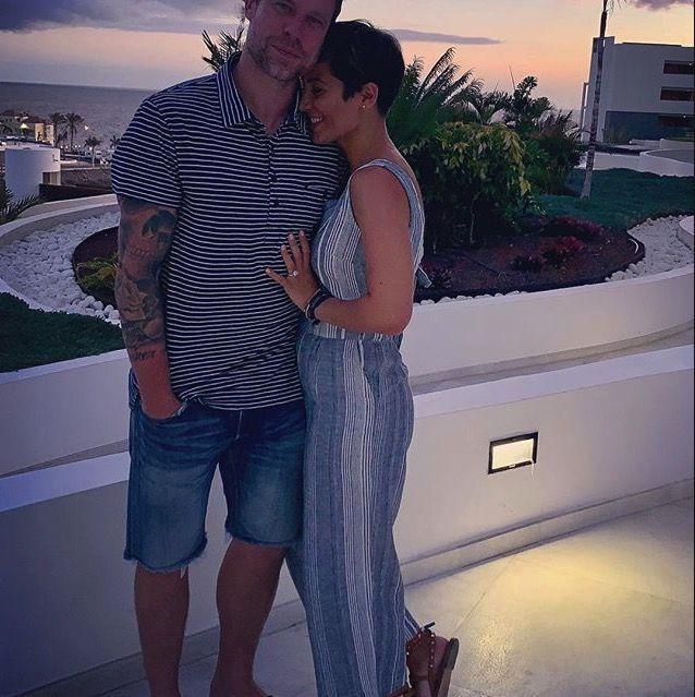 """<p>Frankie Bridge posted a romantic snap of herself and her husband Wayne on holiday and was asked by multiple followers if she was pregnant. </p><p>Handling the questions with grace, she simply responded, """"food baby. Fully enjoyed my food this holiday.""""</p><p>Lots of her fans were quick to to tell her to ignore the comments and that she looked fabulous, healthy and happy. </p>"""
