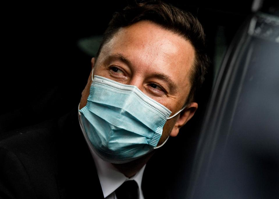 BERLIN, GERMANY - SEPTEMBER 2:  Tesla and SpaceX CEO Elon Musk leaves the Westhafen Event & Convention Center after attending the CDU/CSU faction meeting on September 2, 2020 in Berlin, Germany. Germany. Musk is currently in Germany where he met with vaccine maker CureVac, with which Tesla has a cooperation to build devices for producing RNA vaccines, yesterday. Today, he is rumoured to also be visiting the site of the new Gigafactory under construction near Berlin. (Photo by Filip Singer-Pool/Getty Images
