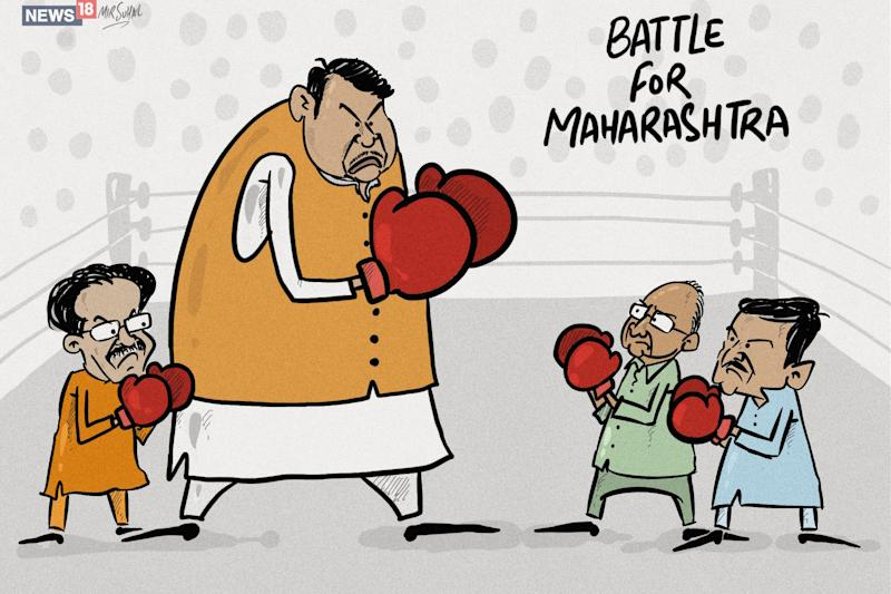 News18-IPSOS Exit Poll Result: BJP Set to Win Majority in Maharashtra on Its Own, Accomplish Mission 75 in Haryana