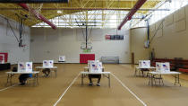 People vote at the Brainerd Youth and Family Development Center on Saturday, Aug. 1, 2020 in Chattanooga, Tenn. Saturday marked the end of the early voting period. (C.B. Schmelter/Chattanooga Times Free Press via AP)