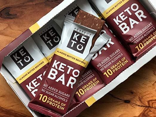 <p>You won't be able to stop snacking on this <span>Perfect Keto Chocolate Protein Bar</span> ($38 for 12).</p>