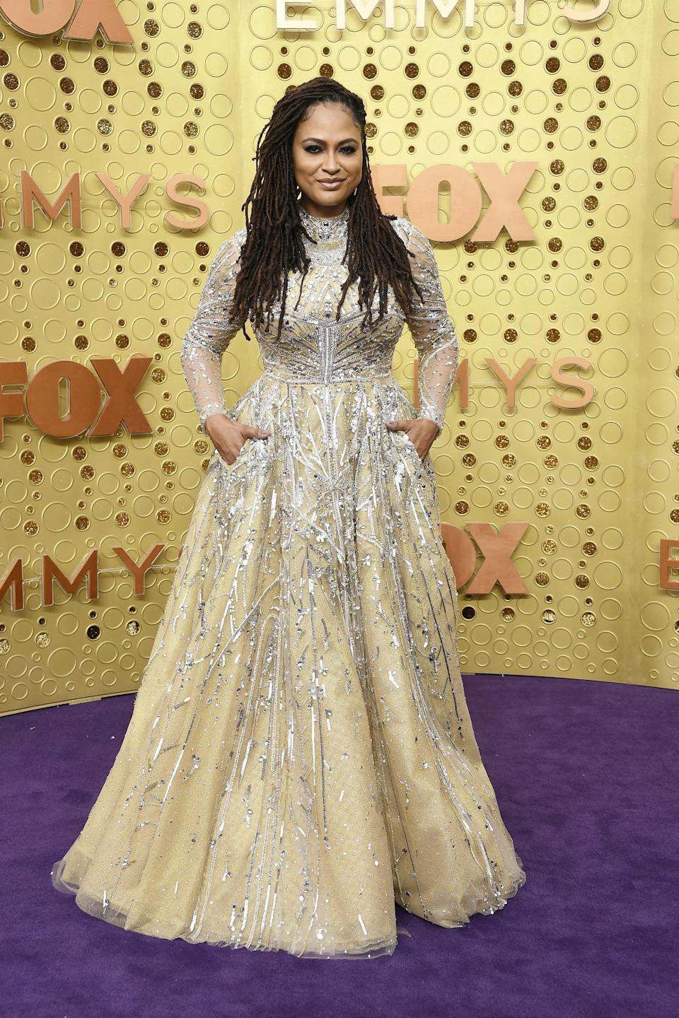 """<h1 class=""""title"""">Ava DuVernay in custom Reem Acra and Chopard jewelry</h1><cite class=""""credit"""">Photo: Getty Images</cite>"""