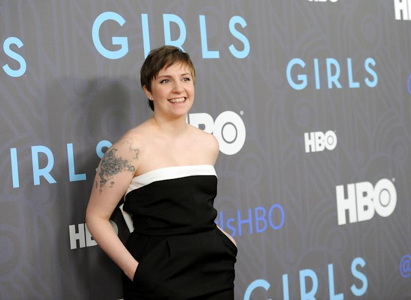 "FILE - This Jan. 9, 2013 file photo shows creator, executive producer and actress Lena Dunham at the HBO premiere of ""Girls"" at the NYU Skirball Center in New York. The series is one of the recipients of the 72nd annual Peabody Awards, announced Wednesday, March 27, 2013,  by the University of Georgia's journalism school. They were chosen by the Peabody board as the best electronic media works of 2012. (Photo by Evan Agostini/Invision/AP, file)"