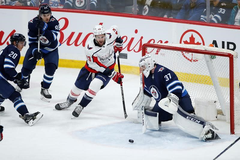 Connor Hellebuyck Perfect As Winnipeg Jets Down Washington Capitals 3 0