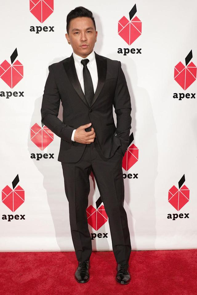 <p>Fashion designer Prabal Gurung looks dapper in a classic black-and-white outfit at the 26th annual Apex for Youth gala. (Photo: BFA/Courtesy of Apex for Youth) </p>