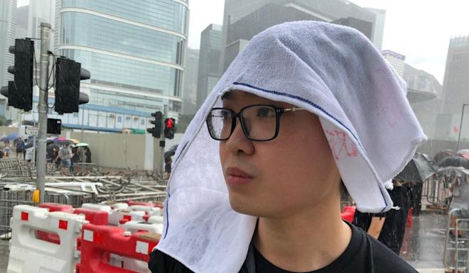 Authorities said the teacher had shown Primary Five pupils a documentary featuring independence activist Andy Chan Ho-tin, pictured during a June 2019 protest. Photo: SCMP Pictures