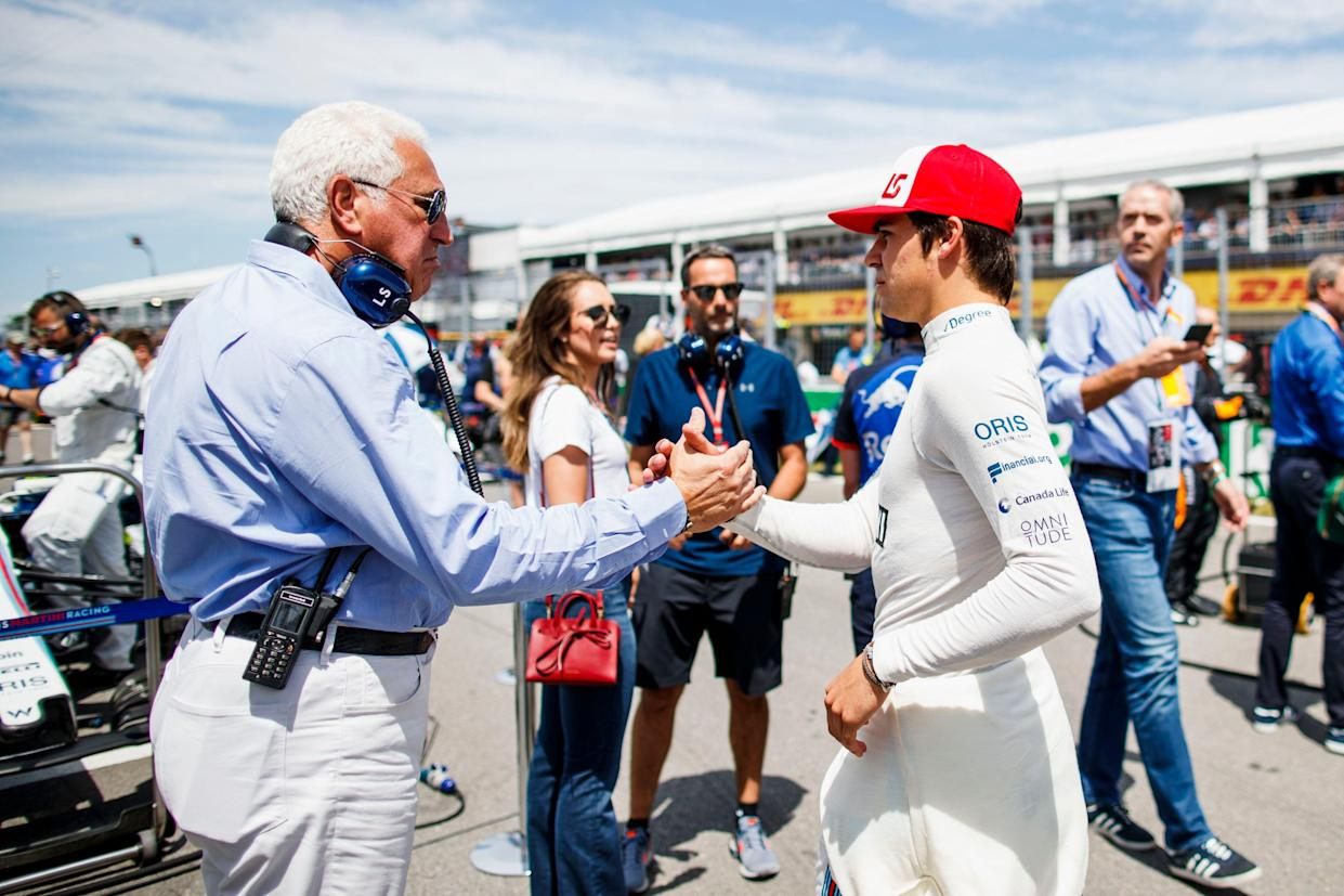 Family guy: Lance Stroll and the man who bankrolls him, father Lawrence, whose rather posh boat is parked a few miles from the circuit
