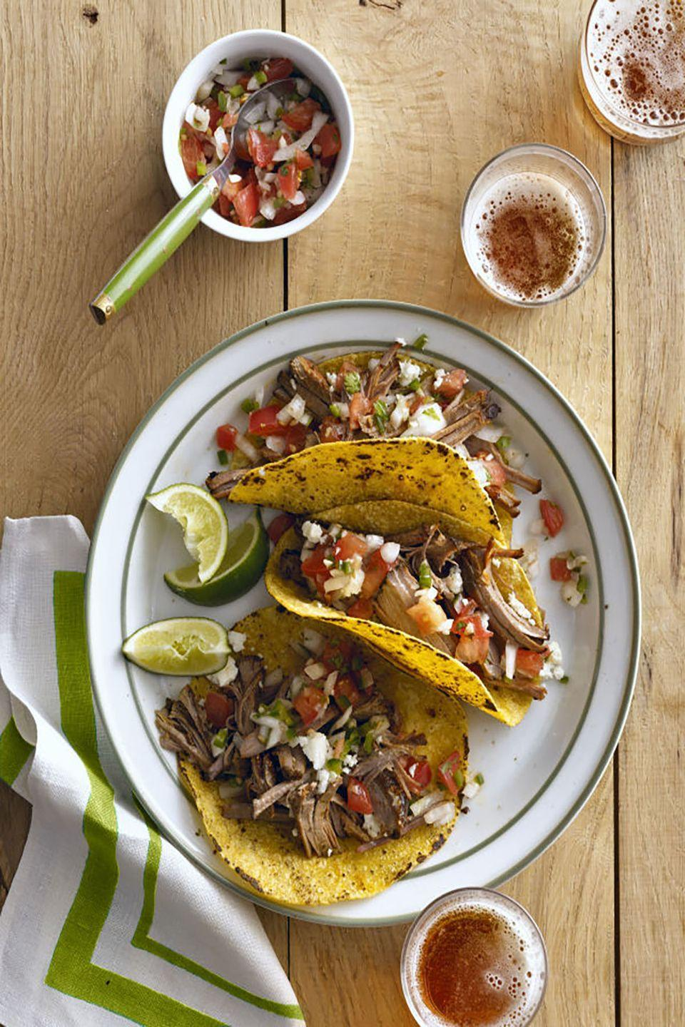 """<p>If you're both fans of brisket and Mexican fare, then this is the perfect Valentine's dinner for you.</p><p><strong><a href=""""https://www.countryliving.com/food-drinks/recipes/a5499/cowboy-brisket-recipe-clx0914/"""" rel=""""nofollow noopener"""" target=""""_blank"""" data-ylk=""""slk:Get the recipe"""" class=""""link rapid-noclick-resp"""">Get the recipe</a>.</strong></p>"""