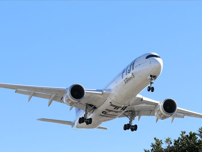 A Fiji Airways Airbus A350-900 XWB.