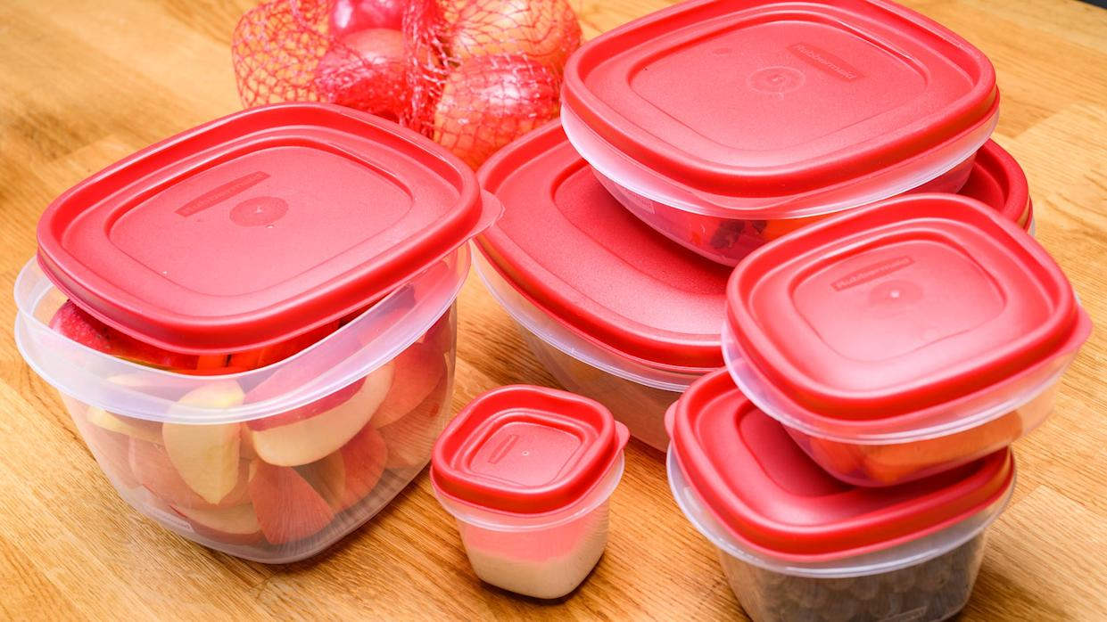 Leftovers are easy to store with these reusable containers.
