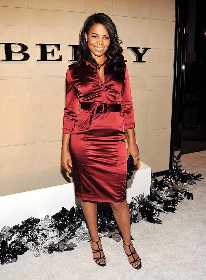 """Sanaa Lathan ignites the arrivals line in a fiery frock. Jordan Strauss/<a href=""""http://www.wireimage.com"""" target=""""new"""">WireImage.com</a> - October 20, 2008"""