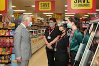 <p>The Prince of Wales chatted with some of the store's employees, too. </p>