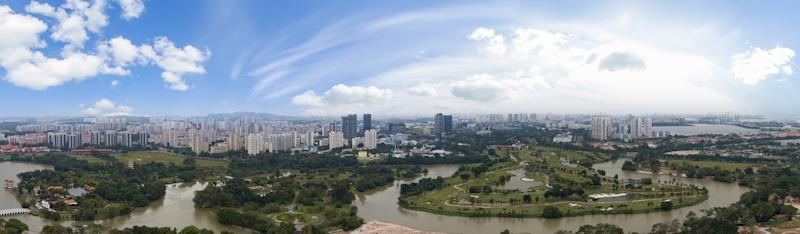 Panaromic views of Jurong Lake Gardens