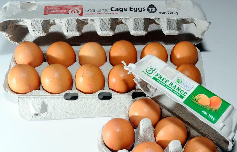 The debate continues over whether free-range eggs or caged eggs, pictured above, are a more ethical option. Source: AAP/Alan Porritt