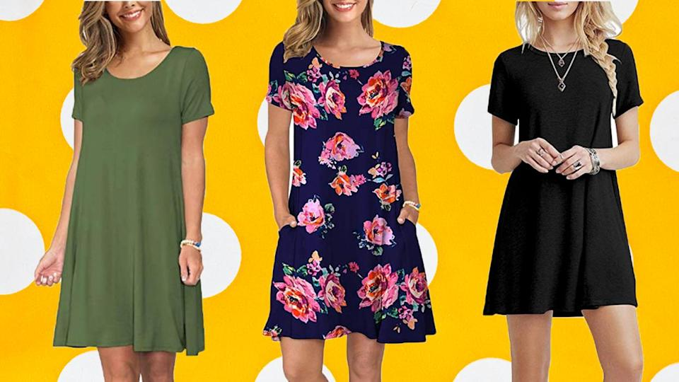 This adorable dress is both comfy and versatile. (Photo: Amazon)