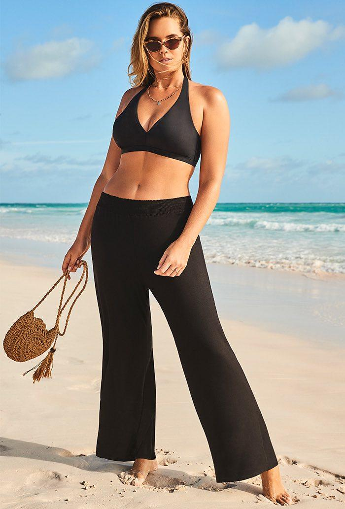 Dena Black Beach Pant (Credit: Swimsuits for All)