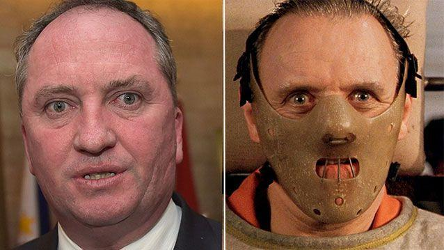Deputy Prime Minister Barnaby Joyce once boasted he was 'turning into Johnny Depp's Hannibal Lecter'. Now he says Depp might have perjured himself. Source: Getty