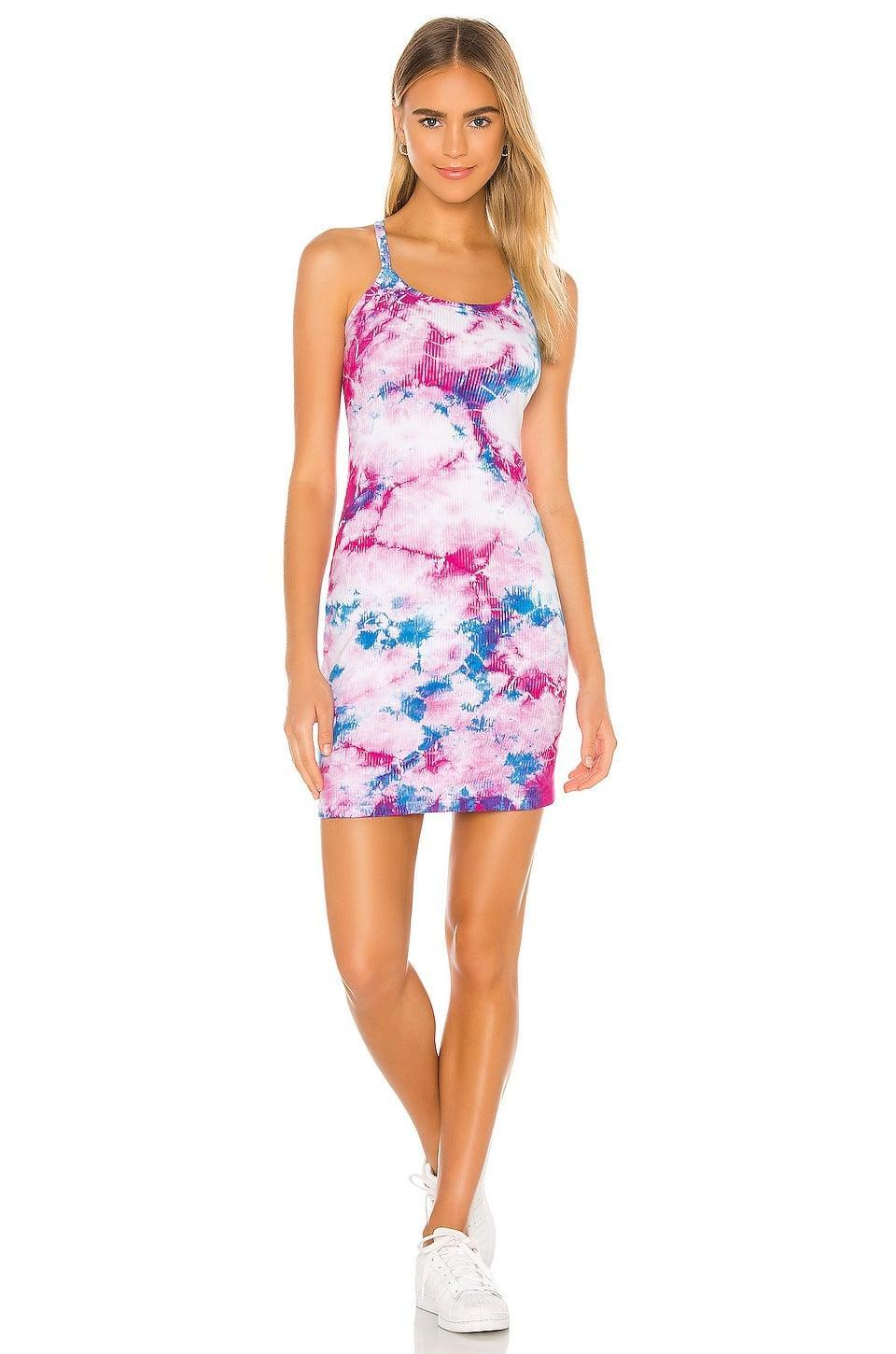 <p>We're still in love with the tie-dye trend and the <span>Year of Ours Gwyneth Rib Dress in Sky Dye</span> ($51, originally $110) is such a bright and bold find. It's a cute day dress perfect for brunch or relaxing at the park. </p>