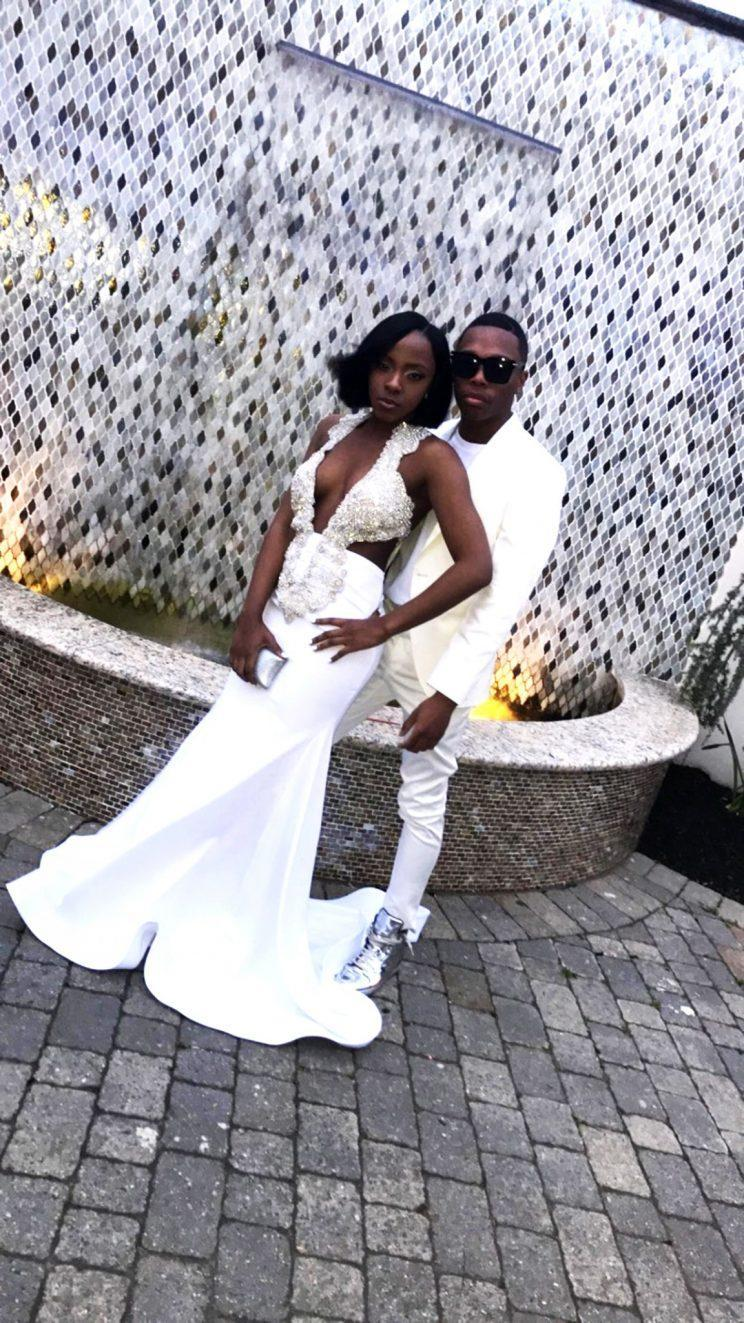 Nur Aiken, a 17-year-old from New Jersey, wore a custom-made dress, costing more than $1,000, to her prom this year. The price tag, though high, reflects how much some students in the Northeast are willing to spend on the perfect prom experience. (Photo: Courtesy of Nur Aiken)