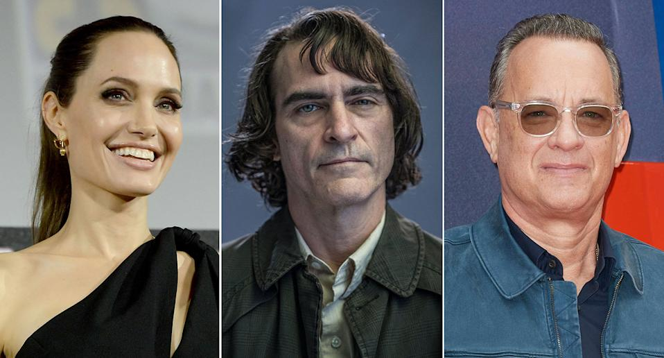 Angelina Jolie, Joaquin Phoenix and Tom Hanks don't watch their own films (Getty/AP/Warner Bros.)