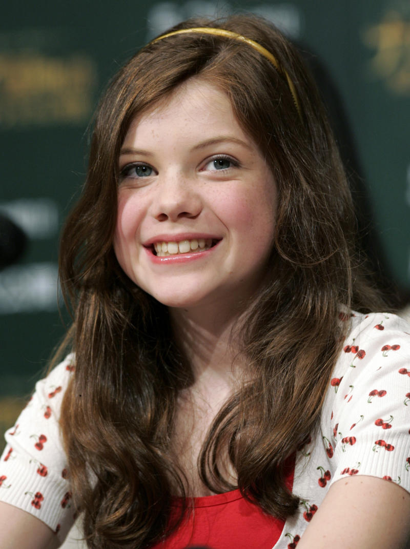 "British actress Georgie Henley smiles during a news conference for the Disney film ""The Chronicles of Narnia: Prince Caspian"" in Tokyo May 19, 2008. The film opens in Japan May 21, 2008. REUTERS/Yuriko Nakao (JAPAN)"