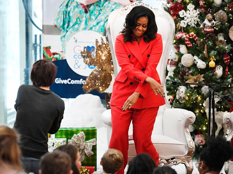 Merry Moves! Michelle Obama Has a Dance Session with Santa Claus During Children's Hospital Visit